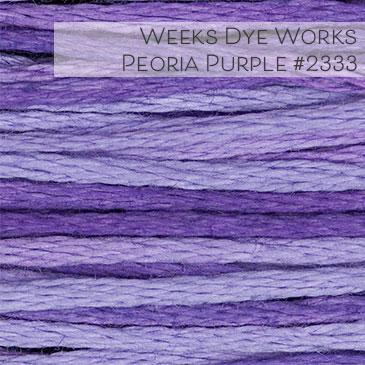Weeks Dye Works Embroidery Floss - Peoria Purple #2333