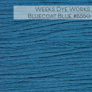 Weeks Dye Works Embroidery Floss - Bluecoat Blue #6550