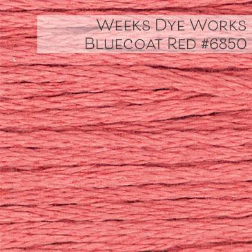Weeks Dye Works Embroidery Floss - Bluecoat Red #6850