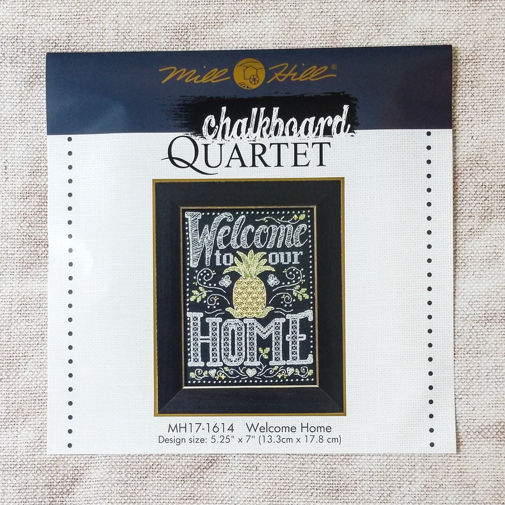 Chalkboard Inspired Cross Stitch Kit - Welcome Home