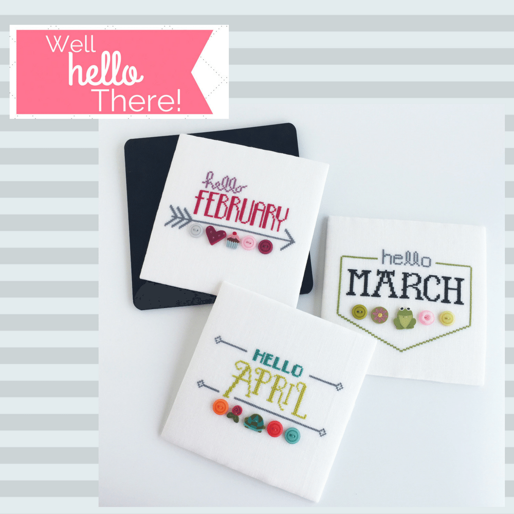 Well Hello There! Cross Stitch Patterns