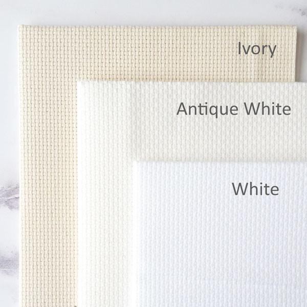 White Aida Cross Stitch Fabric
