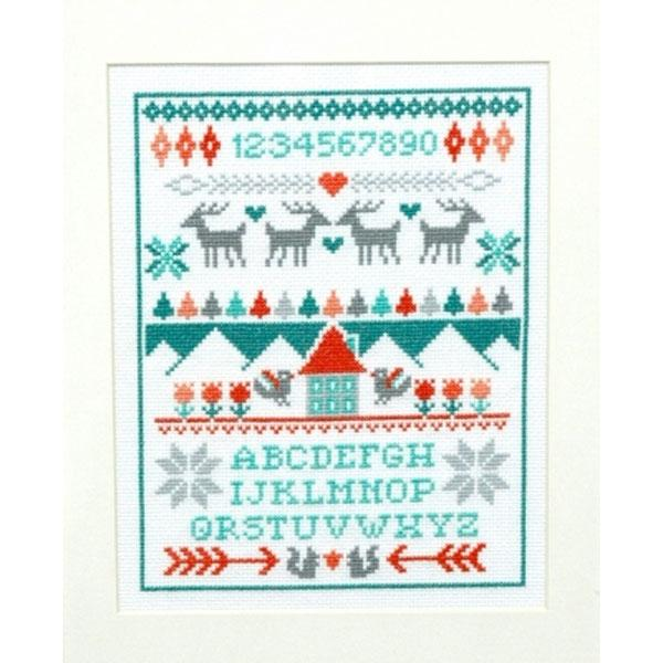Winter Sampler Cross Stitch Pattern
