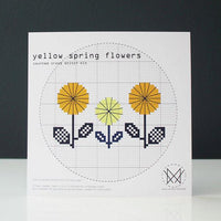 Yellow Spring Flowers Cross Stitch Kit