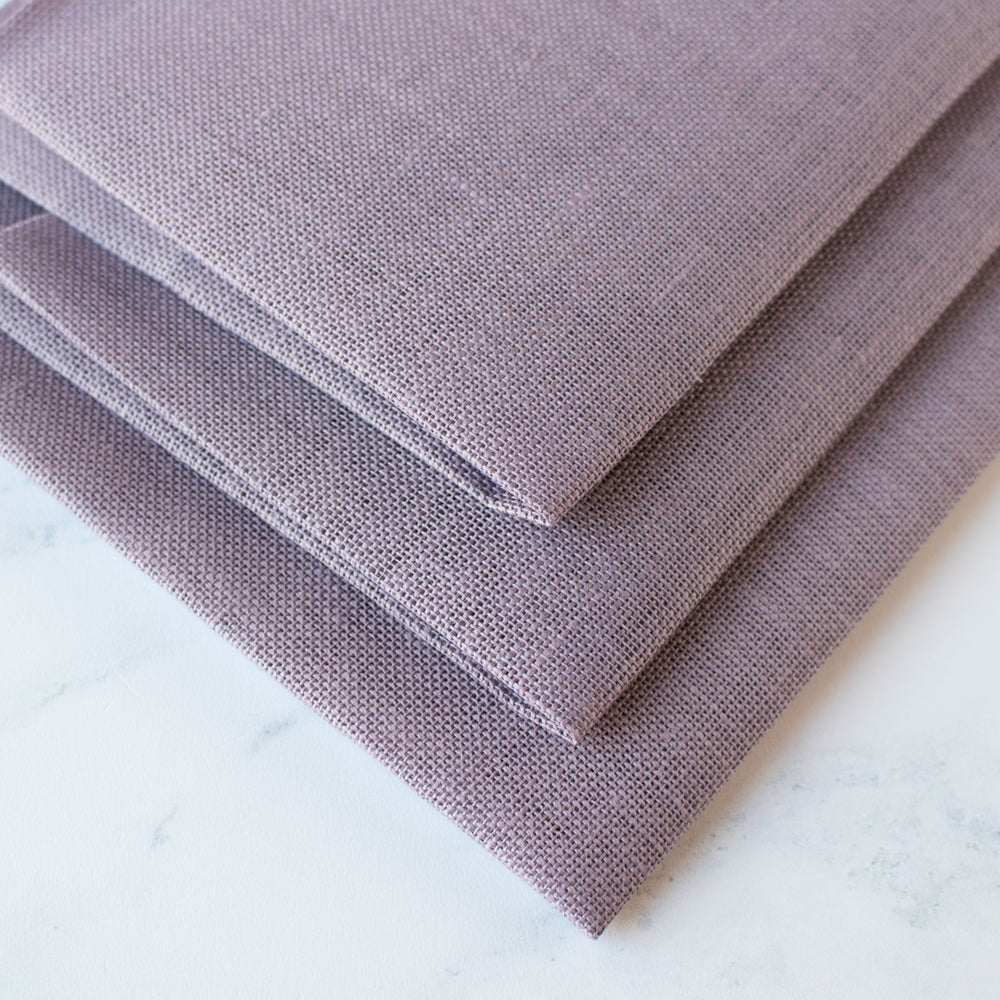 French Country Purple Linen Cross Stitch Fabric