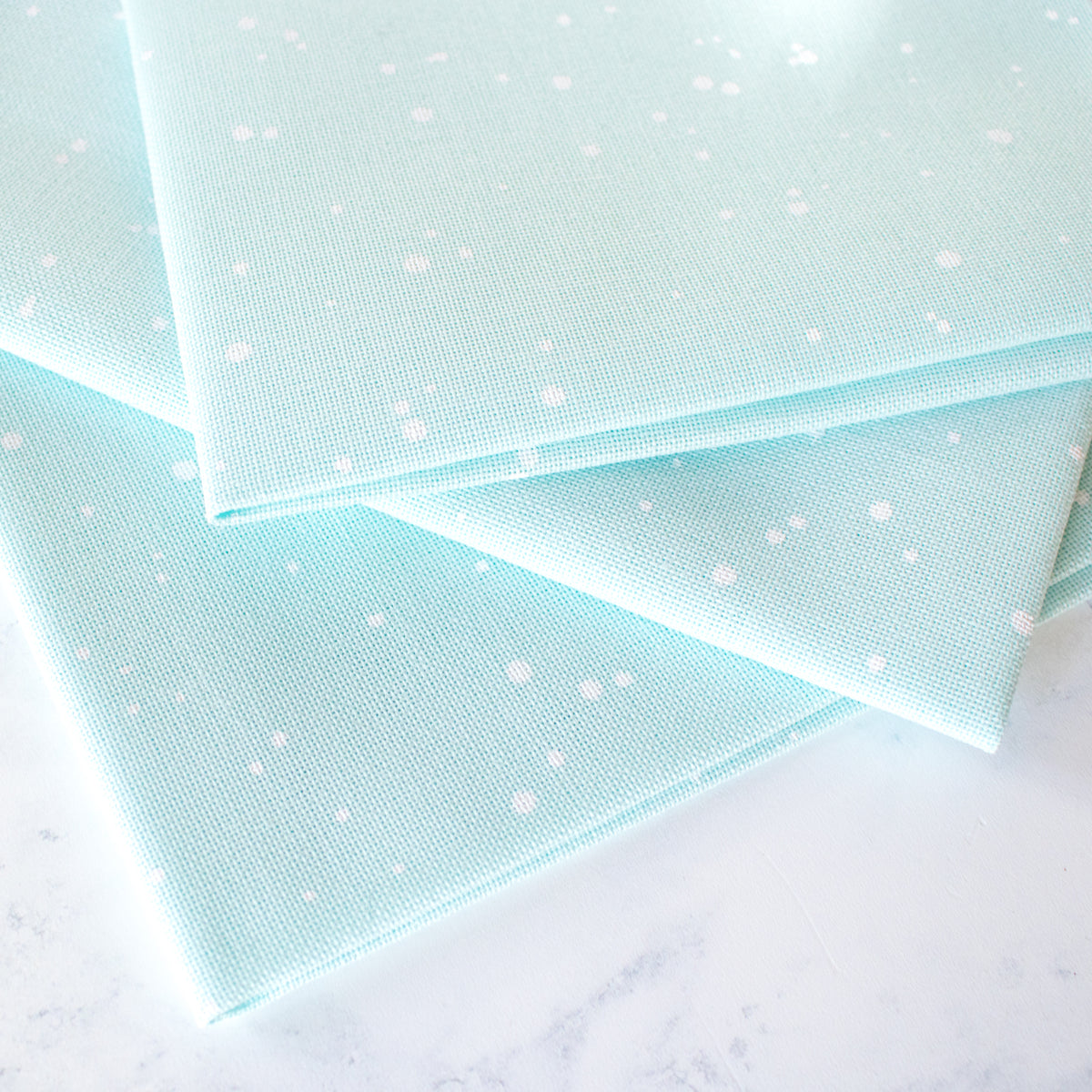 Evenweave Cross Stitch Fabric - Mint Splash