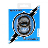 Rock Rings Cocktagon Ii 2Pk Blk