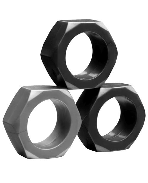 Tom of Finland Hex Nut Cock Set de Anillos - Anillos KinkyToys Mx