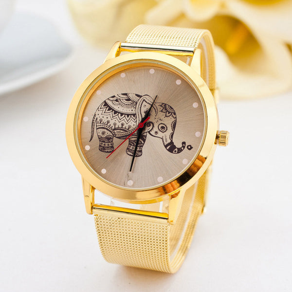 Gold Elephant Watch Stainless Steel
