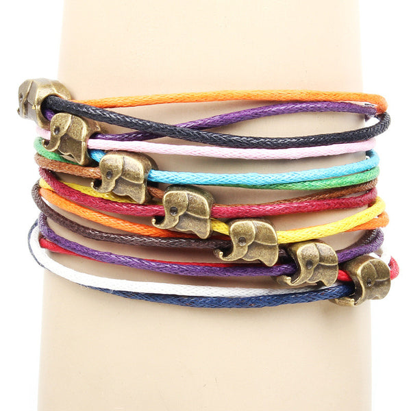 Multi-colored Elephant Bracelet
