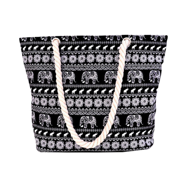 Canvas Elephant Pattern Bag