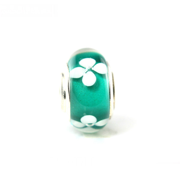 AKA Murano Green Glass Charm