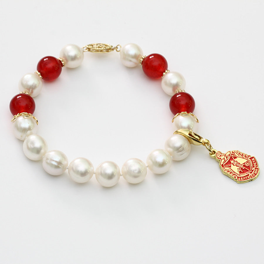 DST Pearl and Jade Bracelet