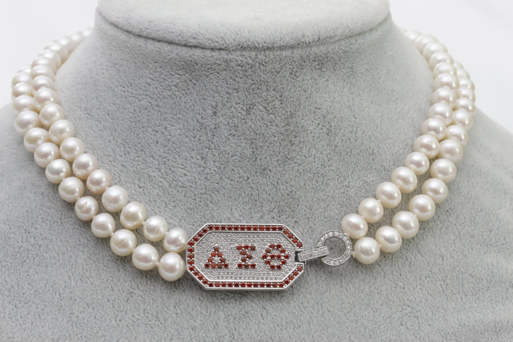 Diva Pearl Necklace-Double Strand