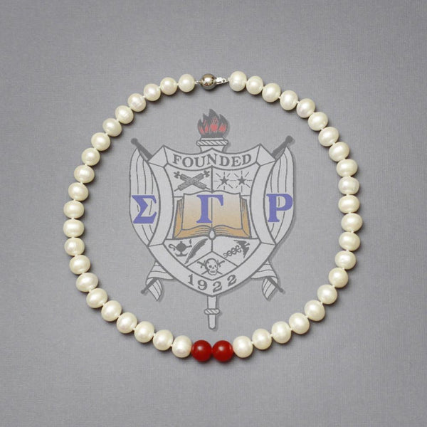 Pearls and Rubies Necklace