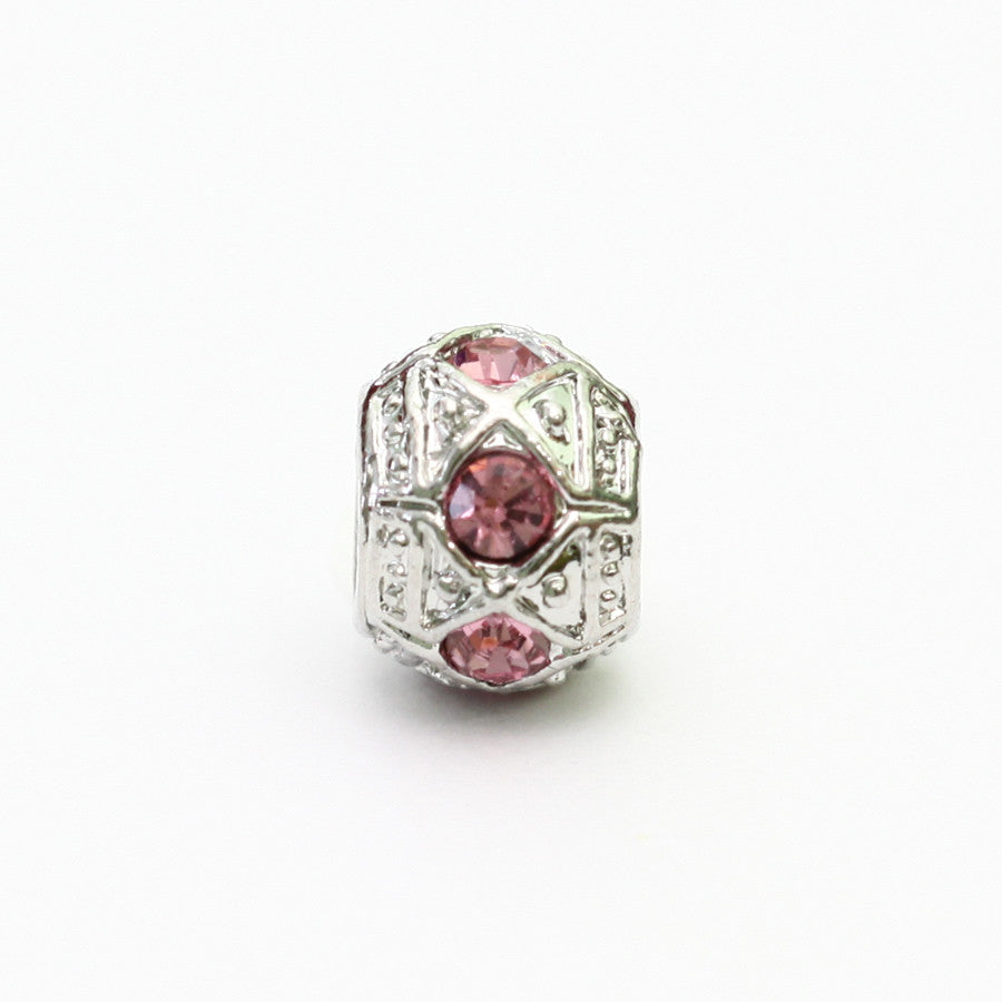 AKA Silver Charm With Pink Stone