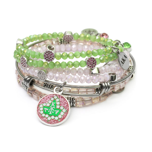 Sorority Badge Wire Bracelet  Set 1