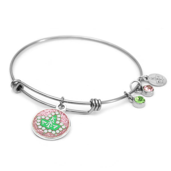 AKA Sorority Badge Wire Bracelet