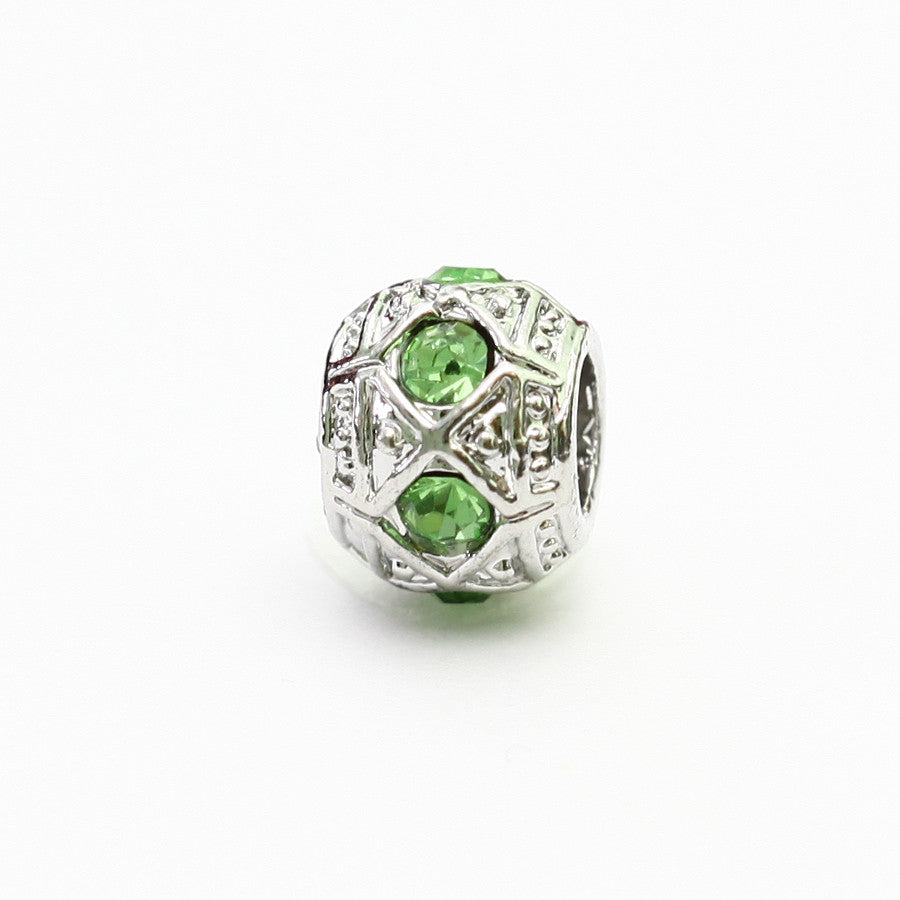 AKA Silver Charm With Green Stone