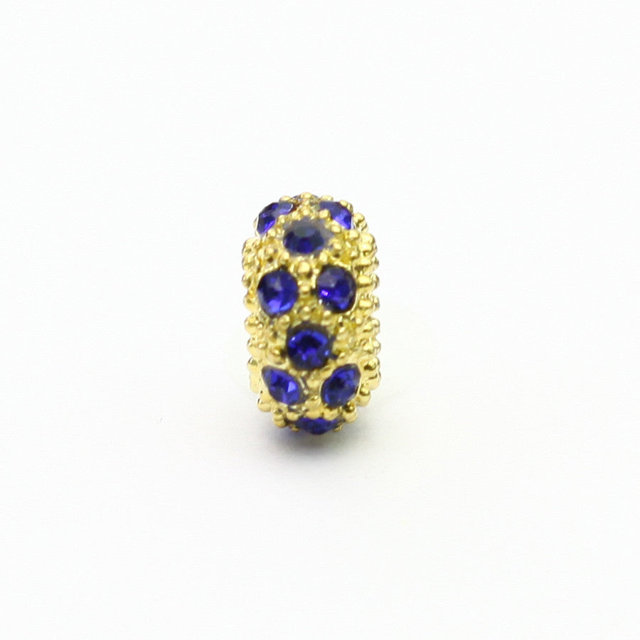 Blue and Gold Polka Dot Charm