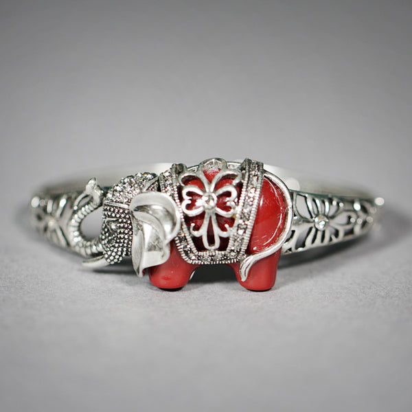 Ruby Elephant Bangle