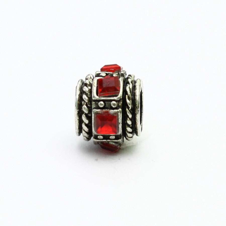 Square Red Stone Charm