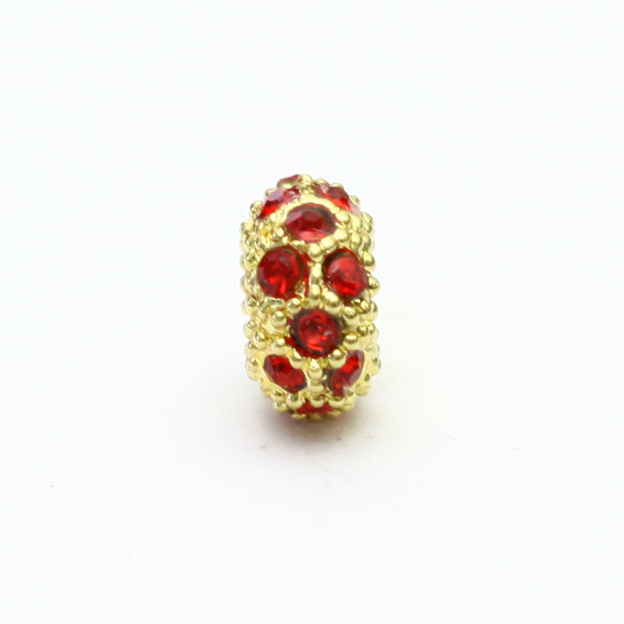 Red and Gold Polka Dot Charm