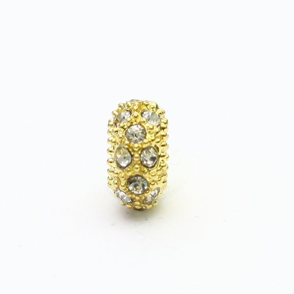 Gold and Silver Polka Dot Charm
