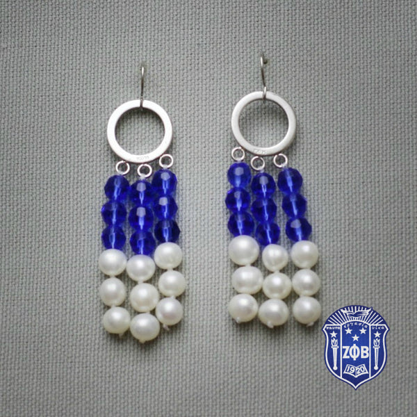 Zeta Phi Beta Faith Earrings