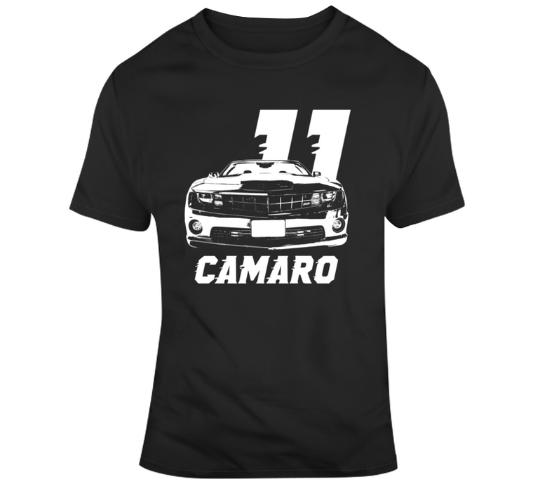 2011 Camaro Grill View With Year And Model Dark Color T Shirt