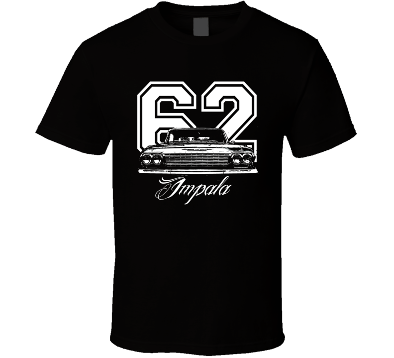 1962 Impala Grill View Year Model Dark Shirt-Car Geek Tees