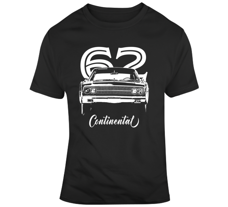 1962 Continental Grill View With Year And Model Dark Color T Shirt