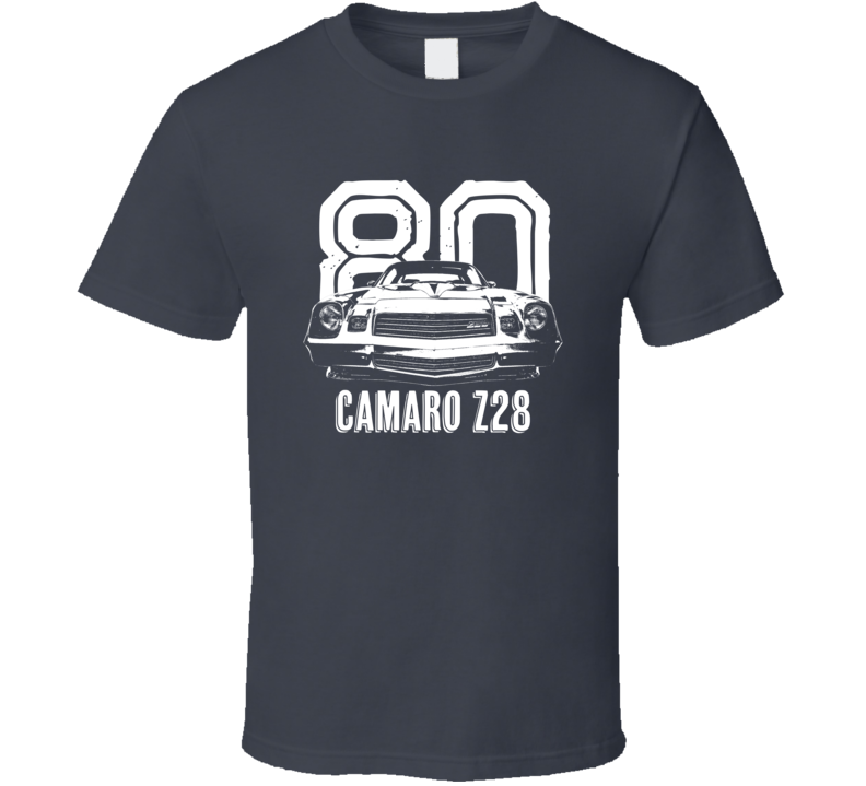1980 Camaro Z28 Grill View With Year And Model Dark Color T Shirt