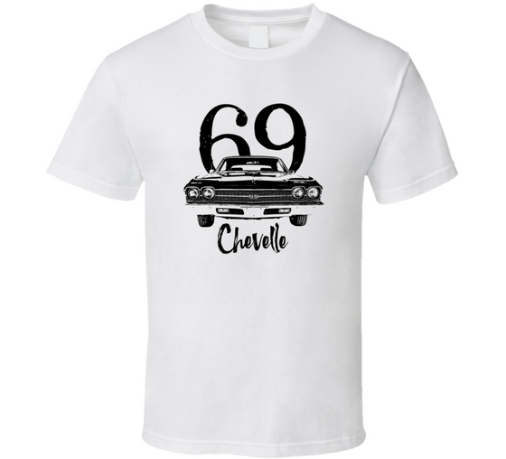 1969 Chevelle Grill View With Year And Model Light Color T Shirt