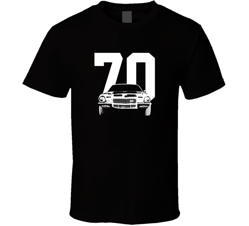 1970 Camaro Grill View With Year Dark Color T-Shirt-Car Geek Tees