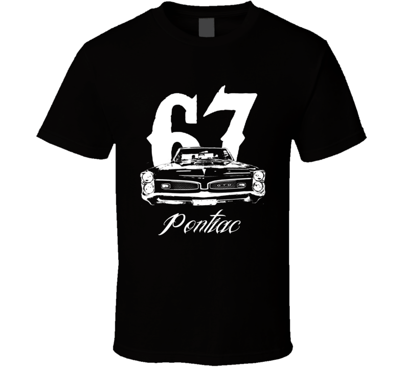 1967 Gto Grill Year Model Dark Color Shirt-Car Geek Tees