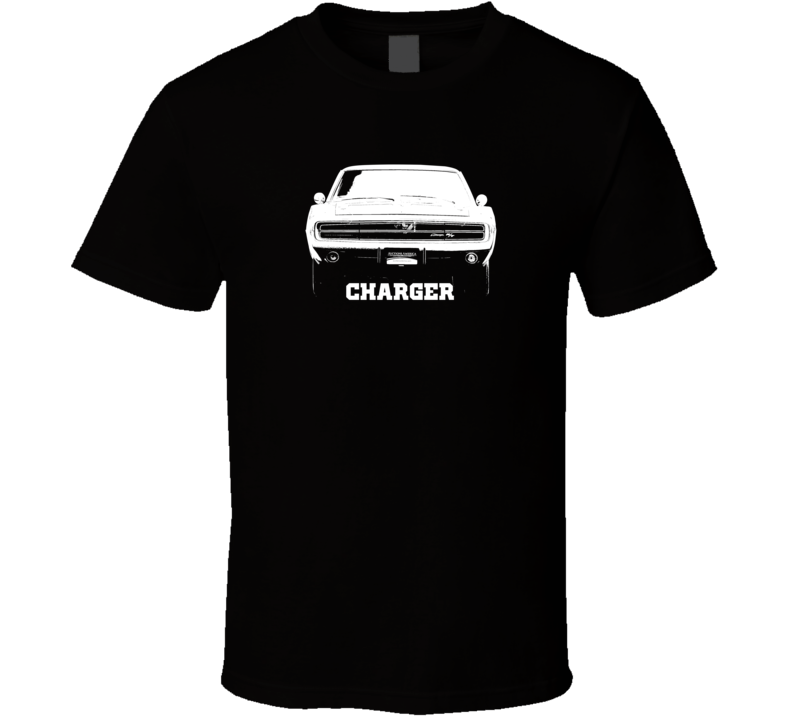 1970 Charger Grill View With Year and Model Dark Color T Shirt1970 Charger Grill View With Model Dark Color T Shirt-Car Geek Tees