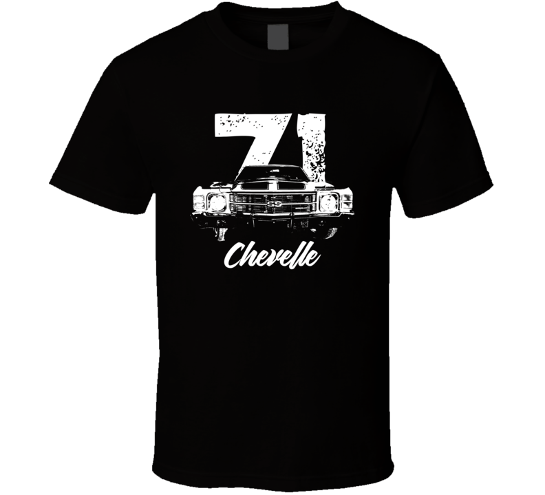 1971 Chevelle Grill View With Year And Model Dark Color T Shirt