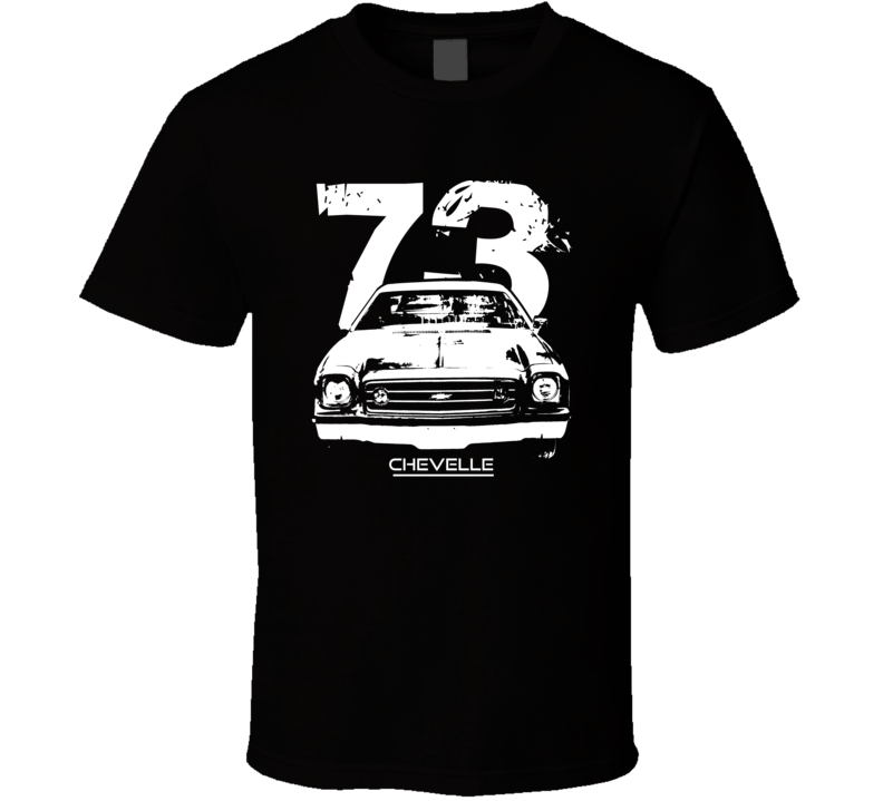 1973 Chevelle Grill Year Model Dark Color T Shirt-Car Geek Tees