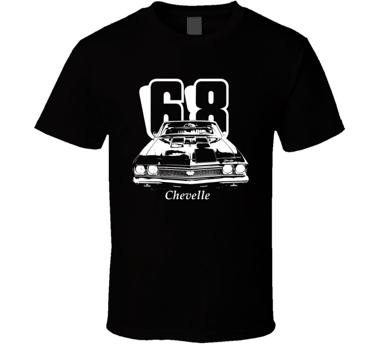 1968 Chevelle Grill Year Model Dark Color T Shirt-Car Geek Tees