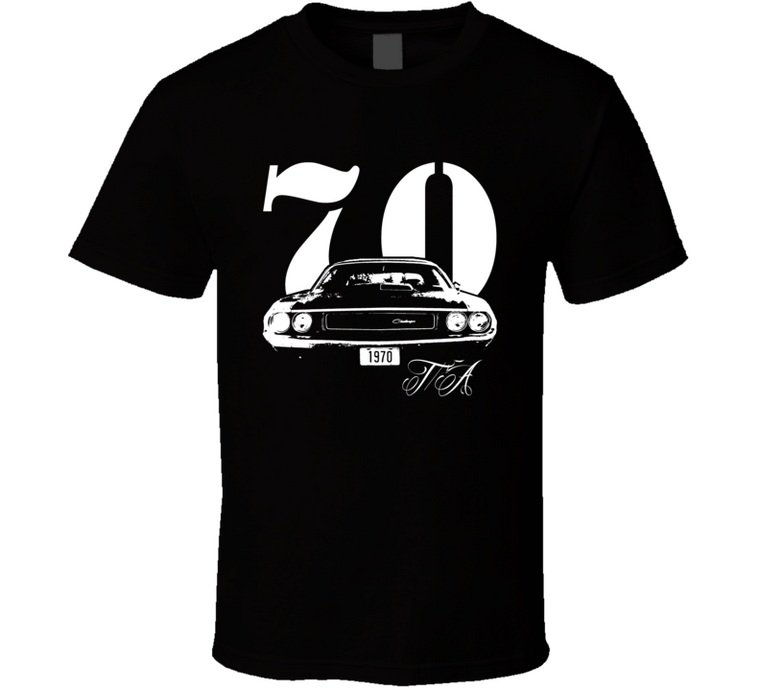 1970 Challenger TA Grill With TA and Year Black T Shirt-Car Geek Tees