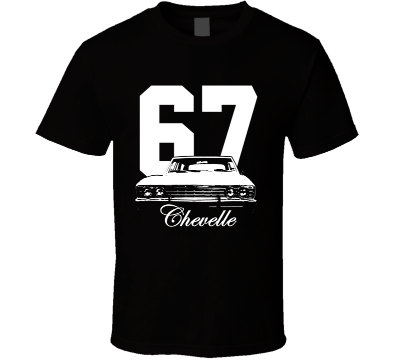 1967 Chevelle Grill View With Year Model Shirt-Car Geek Tees
