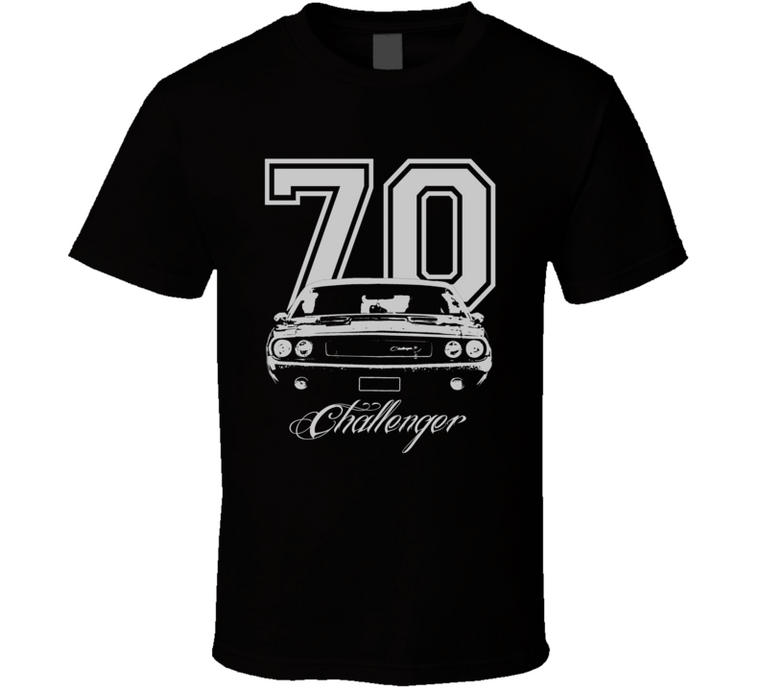 1970 Challenger Grill Year Model Name Dark Color Shirt-Car Geek Tees