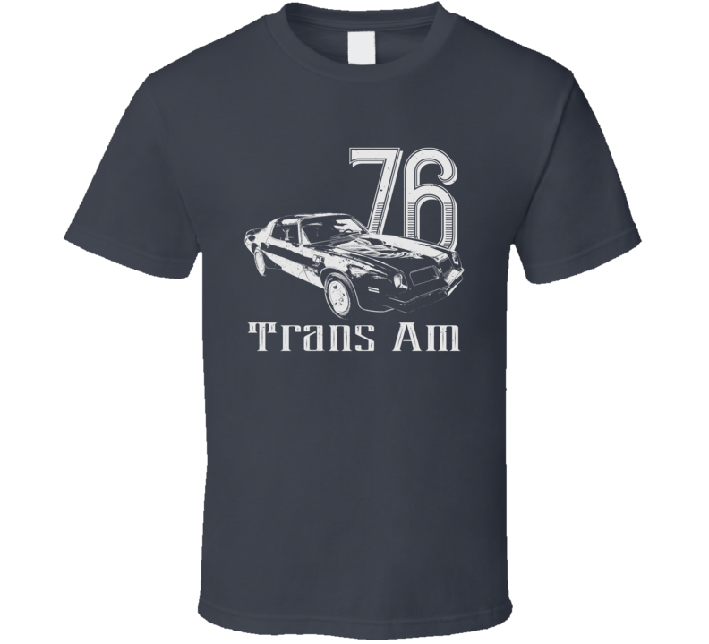 1976 Firebird Trans Am Angle View Vintage Style Dark Color T Shirt