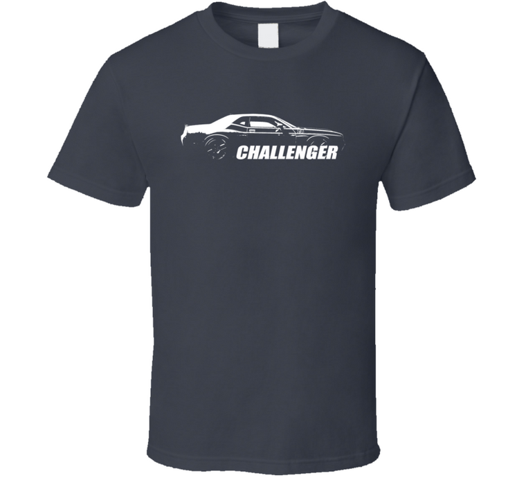 2017 Challenger Grill View With Model Name Charcoal Grey T Shirt