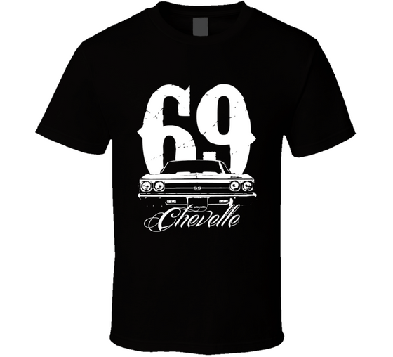 1969 Chevelle Grill With Year and Model Tee T Shirt-Car Geek Tees