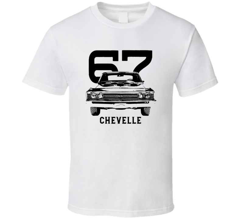1967 Chevelle Grill View With Year And Model Light Color T Shirt