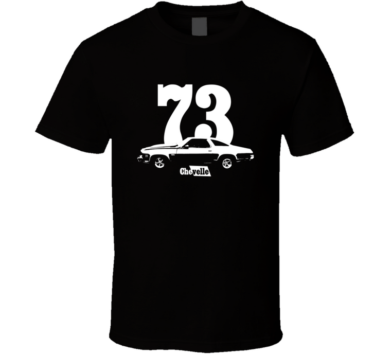 1973 Chevelle Side Year Model Dark Color T Shirt-Car Geek Tees