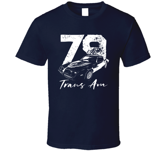 1979 Trans Am Three Quarter View With Year And Model Dark Color T Shirt