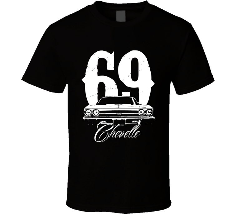 1969 Chevelle Grill With Year and Model Shirt-Car Geek Tees